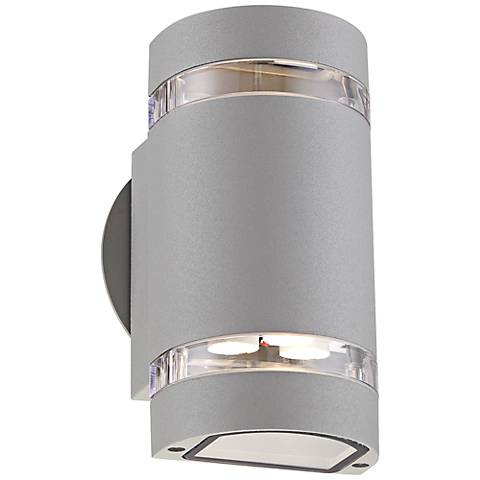 "Wynnsboro 7 3/4"" High Silver LED Outdoor Up and Downlight"