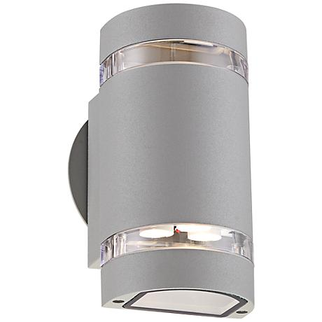 """Wynnsboro 7 3/4"""" High Silver LED Outdoor Up and Downlight"""