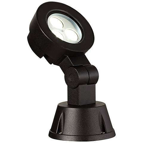 "Super Duty 8 1/4"" High Black Outdoor LED Spot Light"