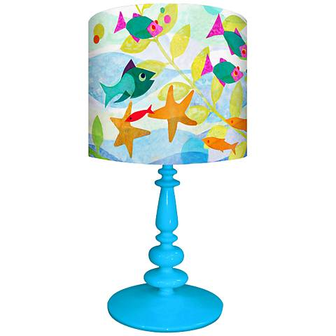 Oopsy Daisy Friendly Fish Children's Table Lamp