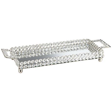 Cristalis Rectangular Crystal Glass Decorative Tray