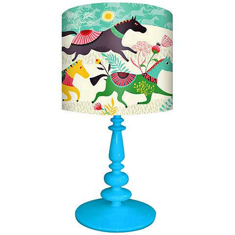 Oopsy Daisy Wild Horses Children's Table Lamp