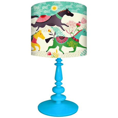 Oopsy Daisy Wild Horses Children s Table Lamp 2W606