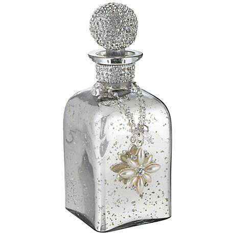 Miravale Mercury Glass Perfume Bottle with Crystal Stopper