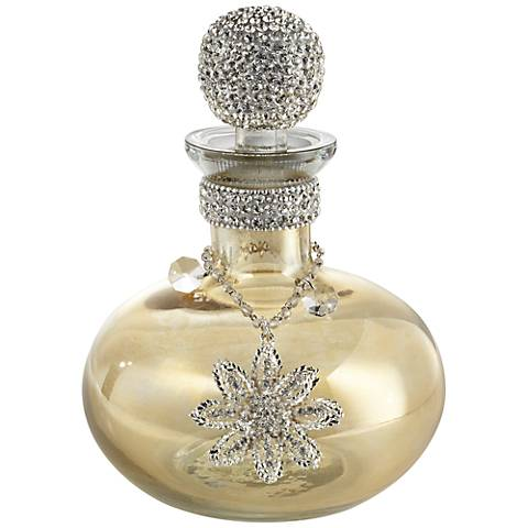 Marabel Amber Perfume Bottle with Crystal Stopper