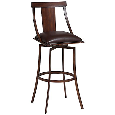 "Impacterra Amrita Noyer Metal 30"" Swivel Bar Stool"