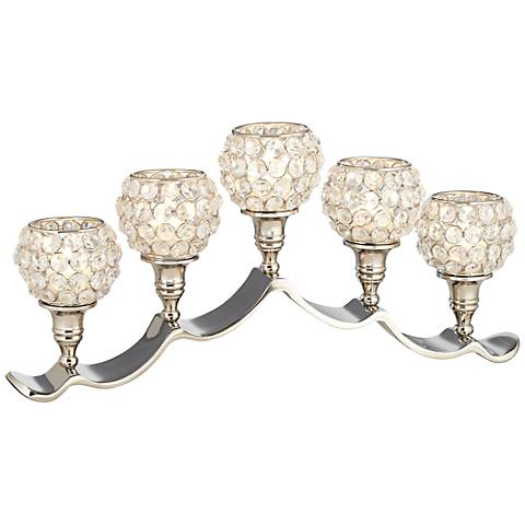 Cristalis 5-Light Crystal Pillar Candle Holder