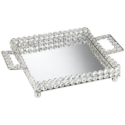 Cristalis Decorative Square Crystal Tray