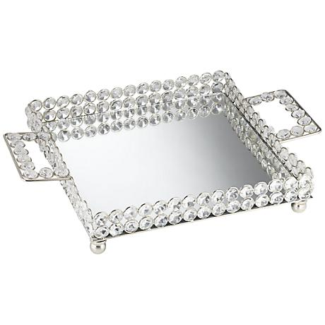 Cristalis Decorative Square Crystal Tray