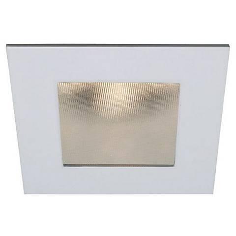 """4"""" WAC 15 Watt LED Square Shower Recessed Retrofit Trim"""