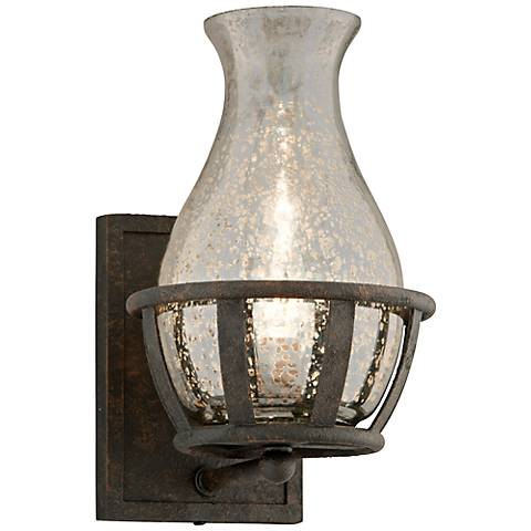 "Chianti Collection 11"" High Antique Silver Wall Sconce"