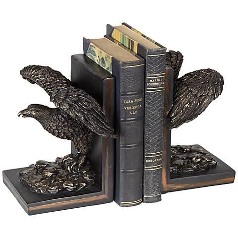 Bronze Eagle Bookends Set