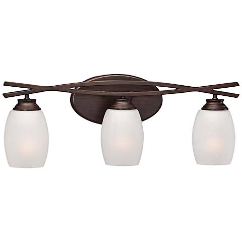 "City Club 22 3/4"" Wide Brushed Bronze Bathroom Light"