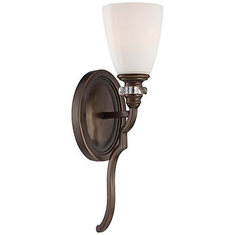 thorndale 17 high dark noble bronze wall sconce 2w954 lamps plus. Black Bedroom Furniture Sets. Home Design Ideas