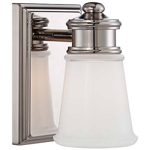 """Transitional 5 3/4"""" High Polished Nickel Wall Sconce"""