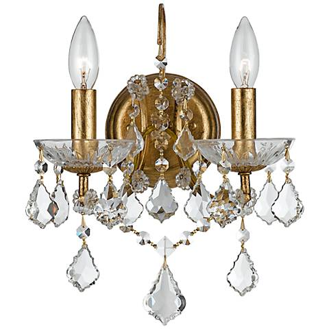 Wall Sconces How High : Crystorama Filmore Gold 12 1/2