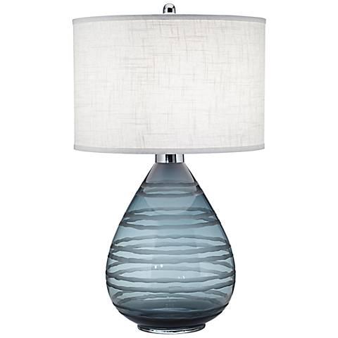 Portia Smoke Gray Glass Table Lamp