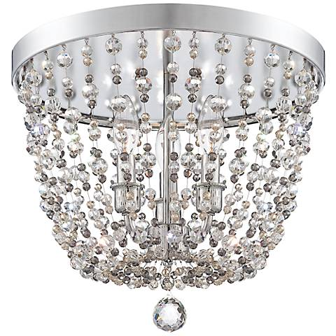 "Crystorama Channing 15"" Wide Polished Chrome Ceiling Light"