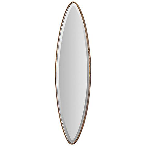 "Ovar 46"" High Antiqued Gold Wall Mirror"