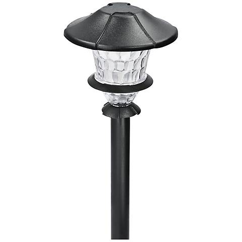 "Lyleson Low Voltage 10 1/4"" High Black Finish LED Path Light"