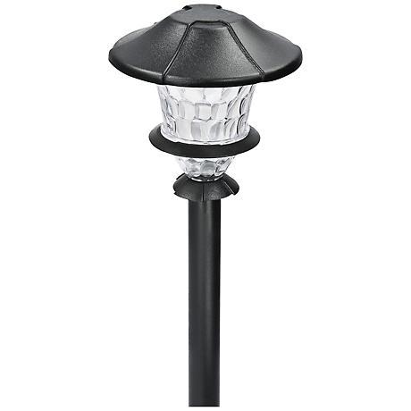"Lyleson Low Voltage 10 1/4"" High Black Finish LED Path Light"
