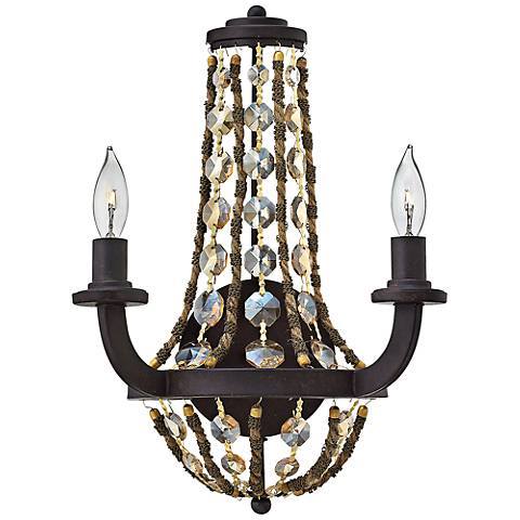 "Fredrick Ramond Hamlet 16"" High Vintage Bronze Wall Sconce"