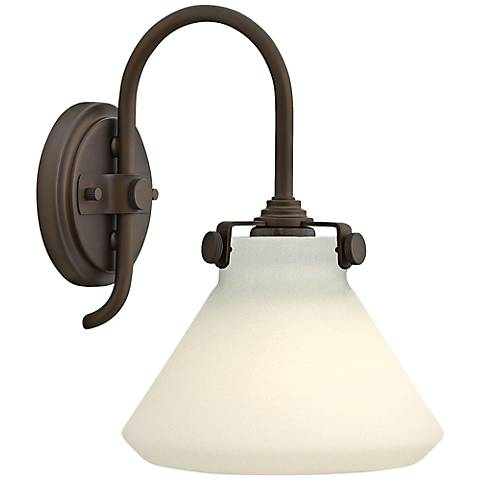 "Congress 11 1/4""H Opal Glass Oil-Rubbed Bronze Wall Sconce"