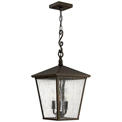 """Hinkley Trellis 23 1/4"""" High Bronze Outdoor Hanging Light"""