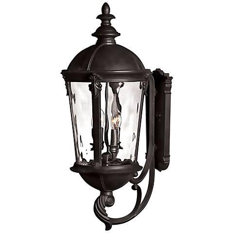 "Hinkley Windsor 32"" High Black Outdoor Wall Lantern"
