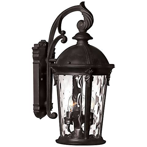"Hinkley Windsor 20 3/4"" High Black Outdoor Wall Lantern"