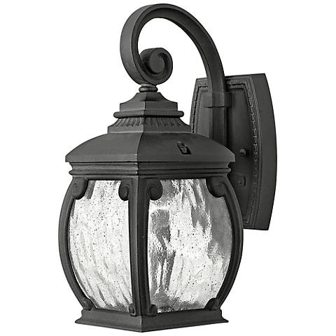 "Hinkley Forum 12 3/4"" High Museum Black Outdoor Wall Light"