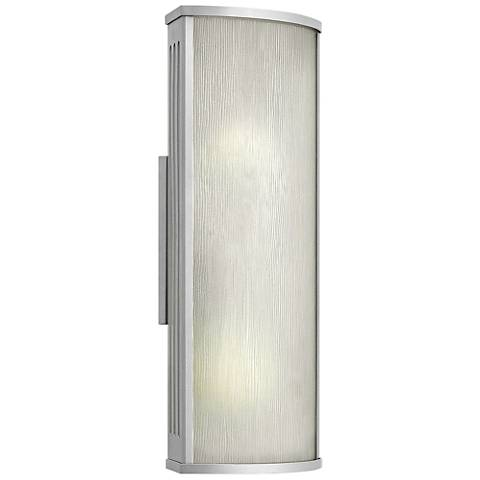 "Hinkley District 18"" High Titanium Outdoor Wall Light"