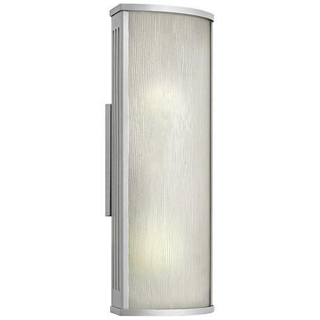 "Hinkley District 18"" High Titanium Outdoor Wall Light"