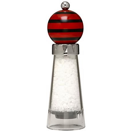 PepArt Red Comet with Stripes Salt Mill