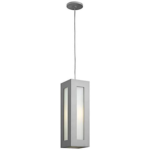 "Hinkley Dorian 18 1/4"" High Titanium Outdoor Hanging Light"
