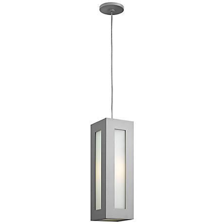 "Hinkley Dorian 18 1/4"" High Titanium Outdoor Hanging Light"