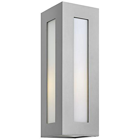 "Hinkley Dorian 18 1/4"" High Titanium Outdoor Wall Light"