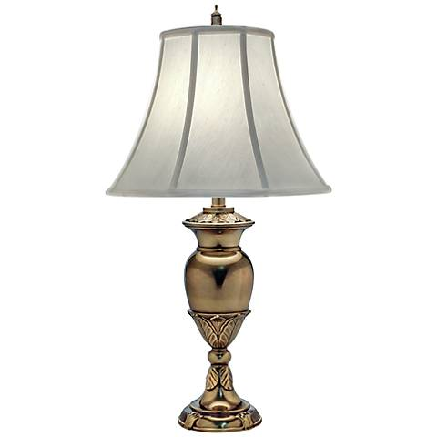 Stiffel Burnished Brass Urn Table Lamp