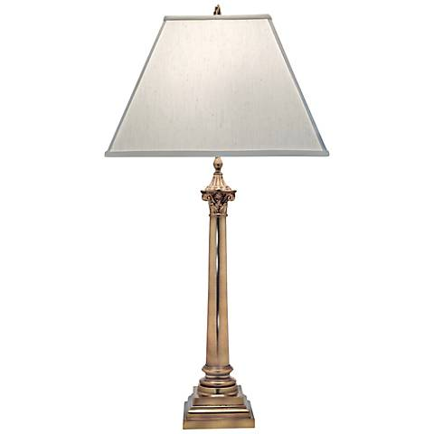 Stiffel Aged Brass Table Lamp
