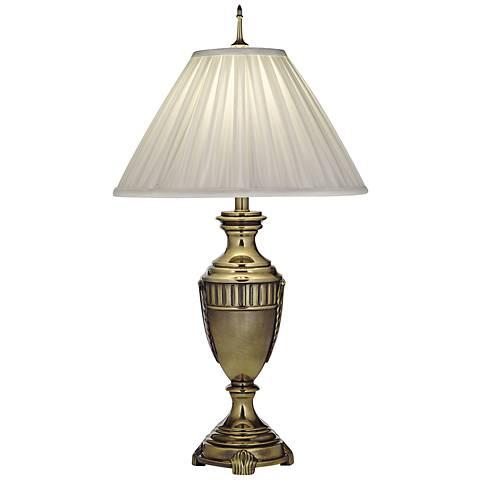 Stiffel Urn Style Burnished Brass Table Lamp