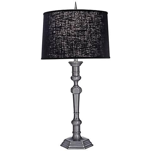 Stiffel Gun Metal And Chelsea Black Table Lamp