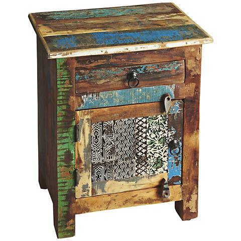 Artifacts Single-Drawer Distressed Accent Chest
