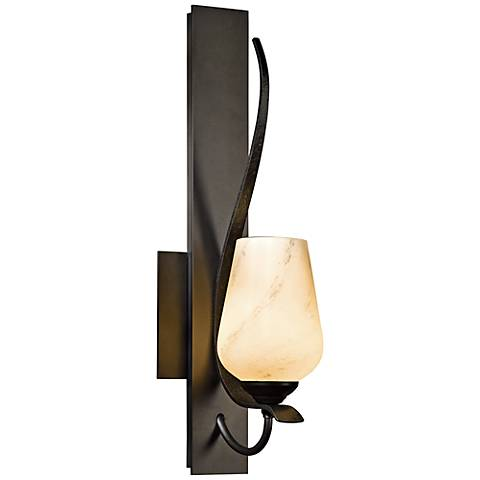 Hubbardton Forge Flora Dark Smoke Wall Sconce