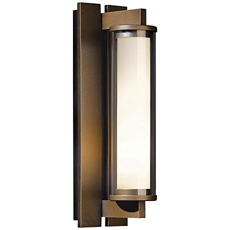 hubbardton forge fuse bronze outdoor wall sconce 2x976 lamps plus. Black Bedroom Furniture Sets. Home Design Ideas