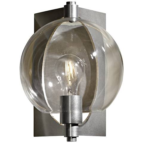 Hubbardton Forge Pluto Globe Glass Platinum Wall Sconce