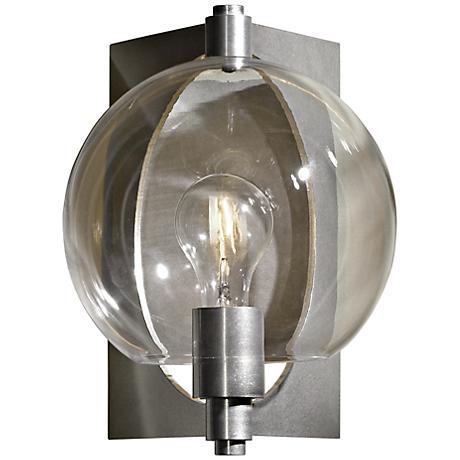Hubbardton Forge Pluto Globe Glass Platinum Wall Sconce