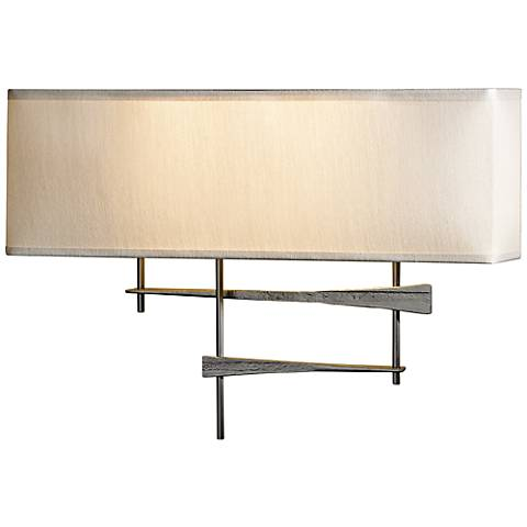forge cavaletti burnished steel wall sconce 2x998 lamps plus. Black Bedroom Furniture Sets. Home Design Ideas