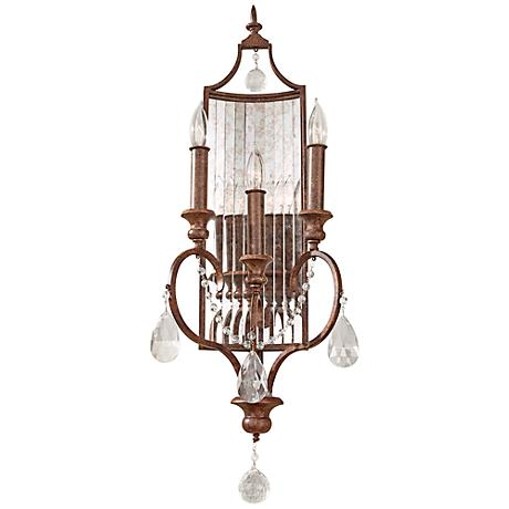 """Feiss Gianna Collection 27 1/4""""H Mocha Bronze Wall Sconce"""