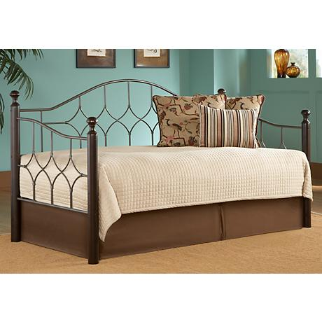 Bianca Euro Top Pop-Up Trundle Hammered Pewter Daybed