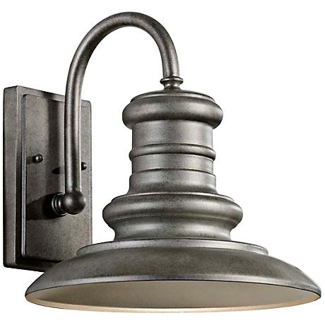 """Feiss Redding Station 12"""" Tarnished Outdoor Wall Lantern"""
